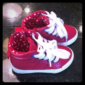 Other - Red high top tennis shoes